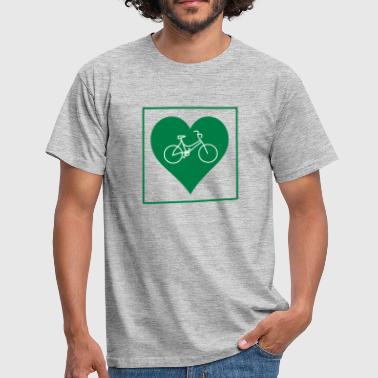 Women's cycling heart - Men's T-Shirt