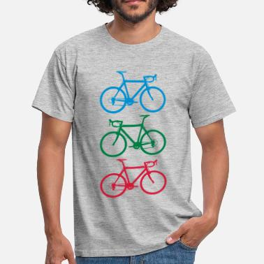 Singlespeed Racer colorful - Männer T-Shirt