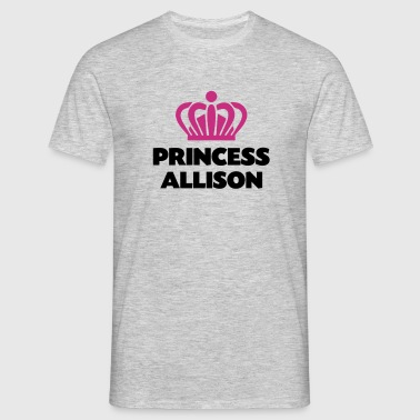 Princess allison name thing crown - Men's T-Shirt