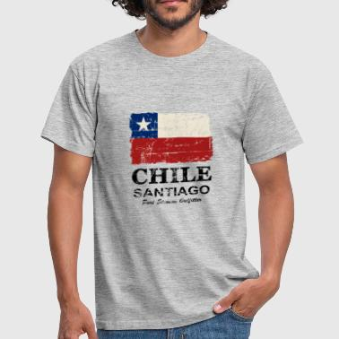 Chile Flag - Vintage Look - T-shirt Homme