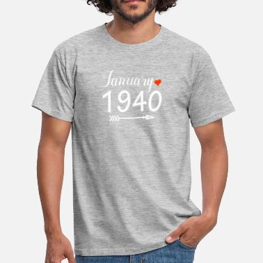 1940 Januari 1940 - Mannen T-shirt