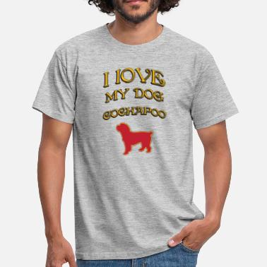 Cockapoo Lover I LOVE MY DOG Cockapoo - Men's T-Shirt