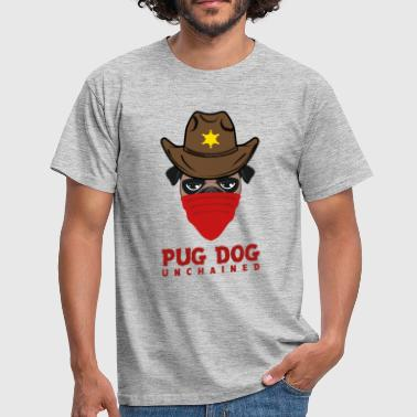 pug dog unchained - Männer T-Shirt