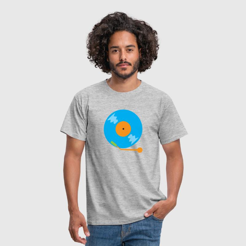 blue vinyl record - Men's T-Shirt