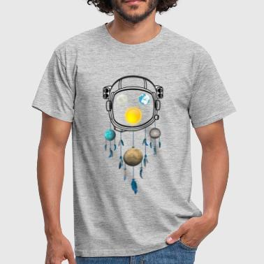 World Globe Universe Planet Astronaut Dreamcatcher - Men's T-Shirt
