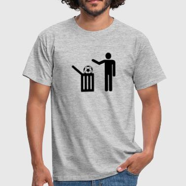 Football = trash - Men's T-Shirt
