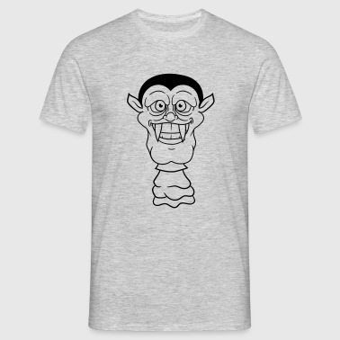 face head vampire evil monster dracula grin crazy  - Men's T-Shirt