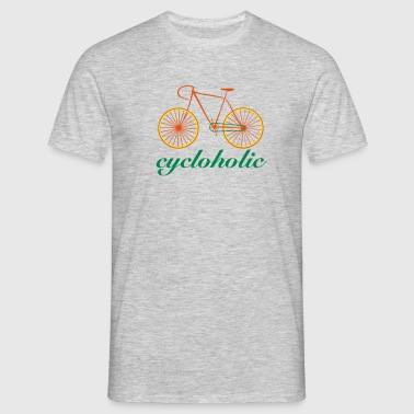 cycloholic bike - Männer T-Shirt