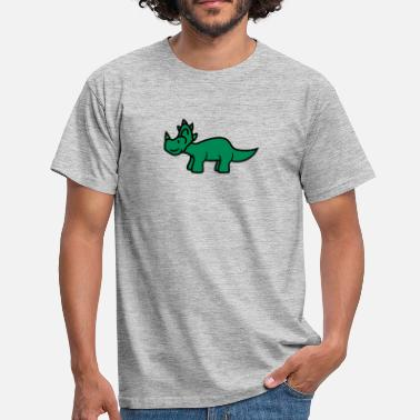 Little Big Horn triceratops horns cute cute little kids big comic  - Men's T-Shirt