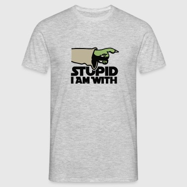Stupid I am with FC - T-shirt herr