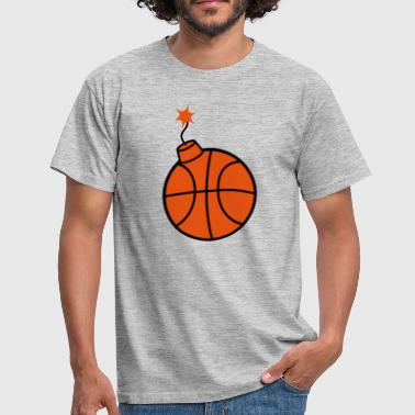 throw basketball ball play club sport goal sc - Men's T-Shirt