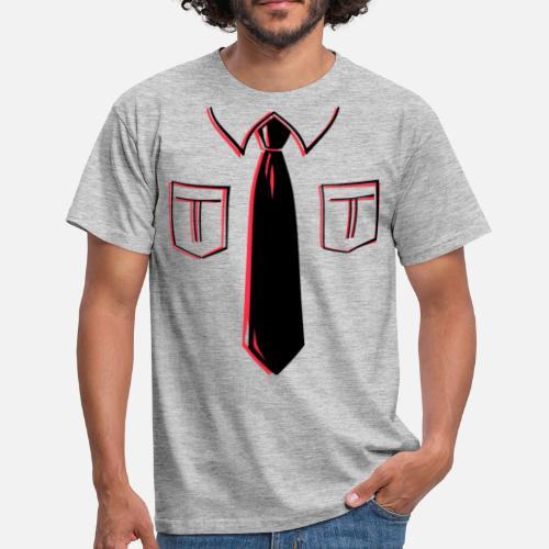 Krawatte mit Kragen 2-farbig Männer T-Shirt   Spreadshirt bda912c5f4