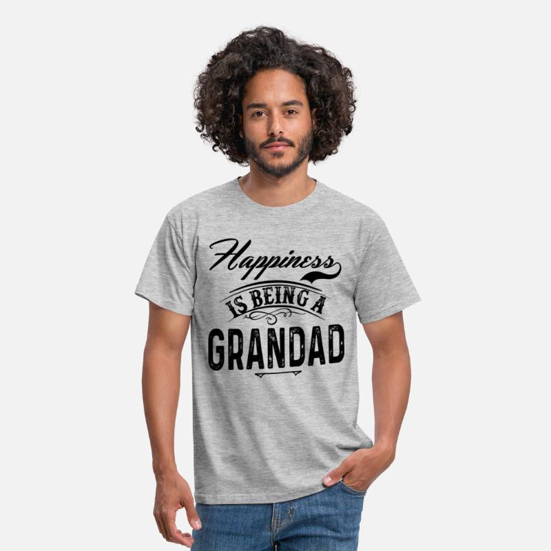 Grandad T-Shirts - Happiness Is Being A Grandad - Men's T-Shirt heather grey