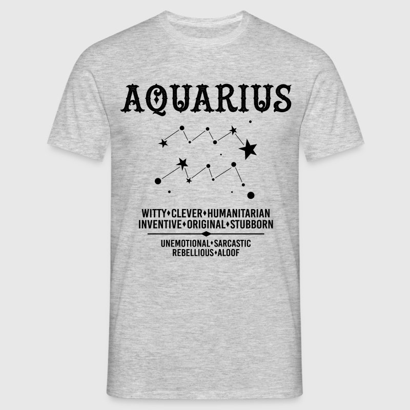 Aquarius Zodiac Sign - Men's T-Shirt