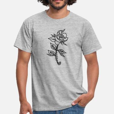Rose Tatouage Tatouage de rose - T-shirt Homme