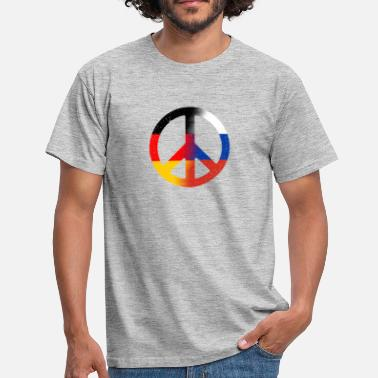 Peace Deutsch- Russland (distressed) - Männer T-Shirt