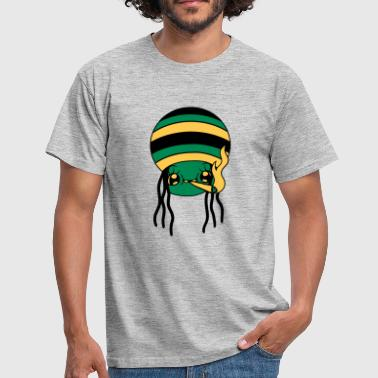 Kiffe joint weed hemp kiff kiffer jamaica reggae smoking - Men's T-Shirt