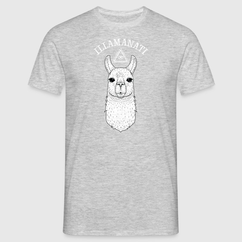 Illamanati | Cool Llama Design with Triangle - Men's T-Shirt