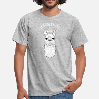 Lama Illamanati | Cool Llama Design with Triangle - Männer T-Shirt