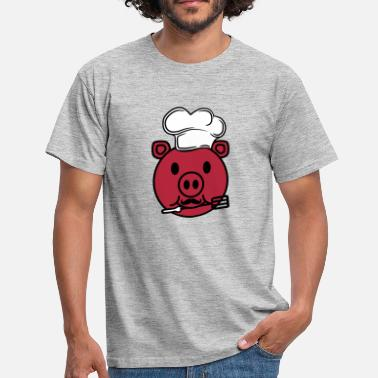 Head Cook face head cook cooking delicious hunger grilling c - Men's T-Shirt