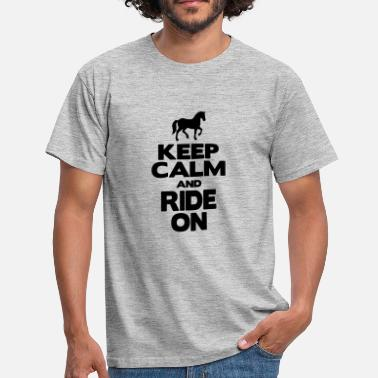 Mamo KEEP CALM AND RIDE ON - Maglietta da uomo