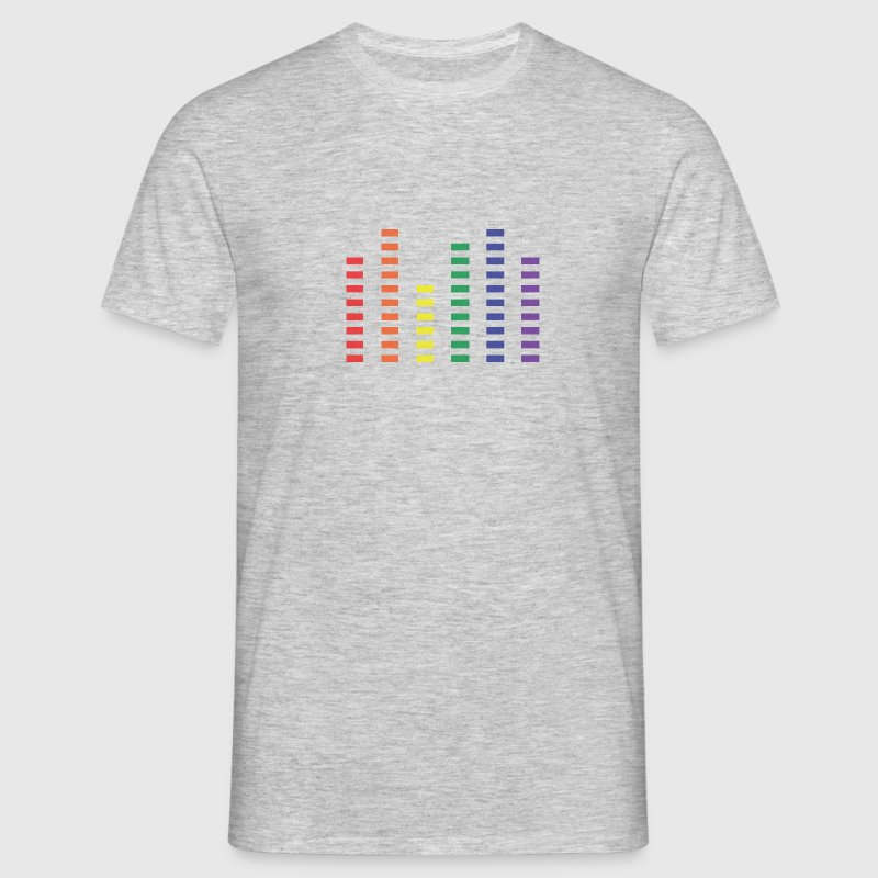 Gay Rainbow Color Equalizer - Men's T-Shirt