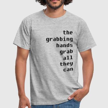 grabbing hands - Men's T-Shirt