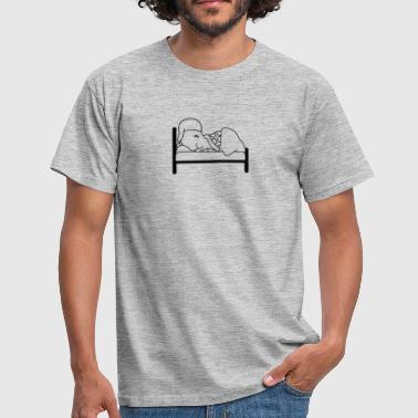 bed sleeping night tired dorm dreaming exhausted s - Men's T-Shirt