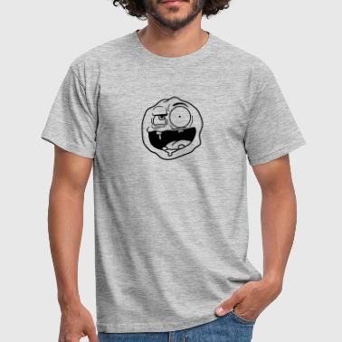 Ugly Head ugly face head crazy crazy crazy insane funny grim - Men's T-Shirt