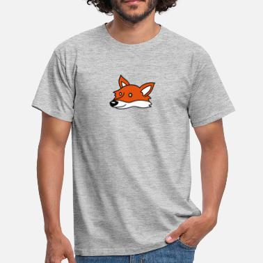 Nic beautiful head face cute cute little child fox nic - Men's T-Shirt