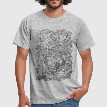 Black And White Collection Engines_on_hochkant - Männer T-Shirt