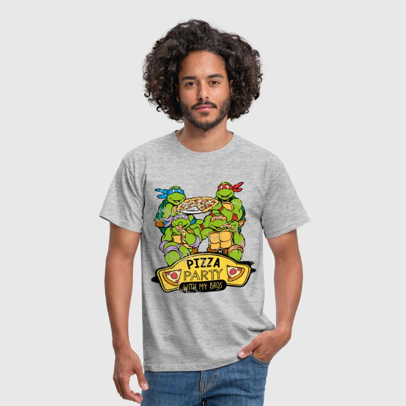 TMNT Turtles Pizza Party With My Bros - Herre-T-shirt