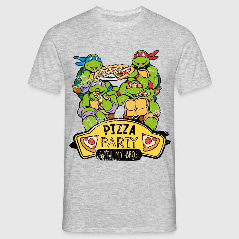 TMNT Turtles Pizza Party With My Bros - Men's T-Shirt