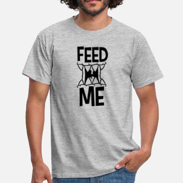 Mouth Monster mouth cartoon monster cartoon feed me logo design fue - Men's T-Shirt