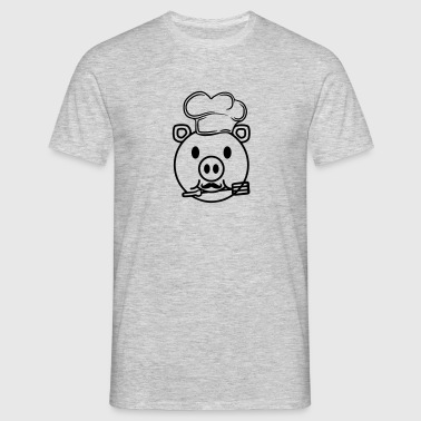 face head cook cooking delicious hunger grilling c - Men's T-Shirt