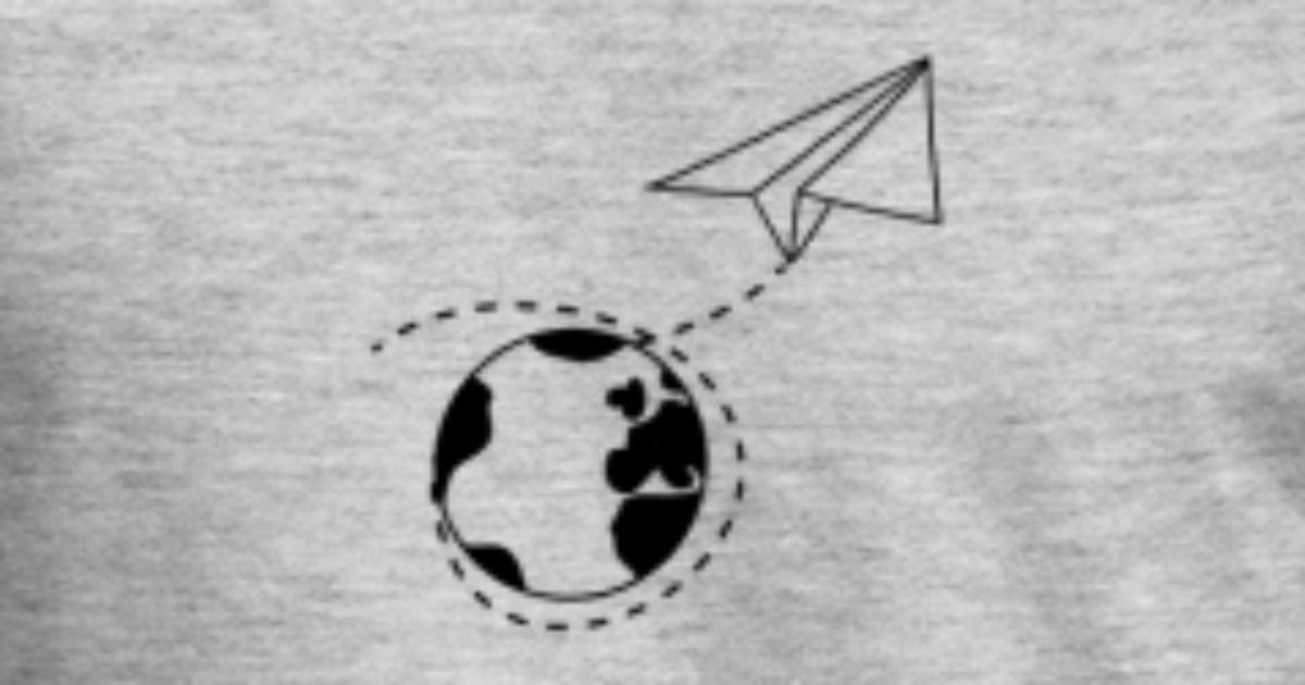 erde weltreise gestrichelte linie papier flieger g von Style-o-Mat ...