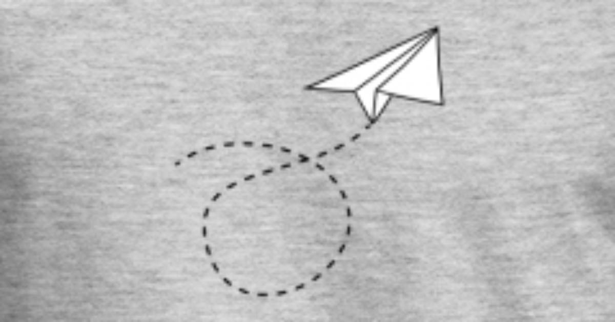 gestrichelte linie papier flieger gefaltet spielze von Style-o-Mat ...