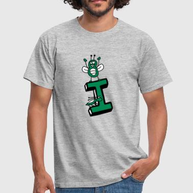 Insectenkever klein I initial letter initialen abc - Mannen T-shirt