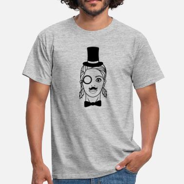 Lip Sir gentlemen cylinder hat monocle glasses rei - Men's T-Shirt