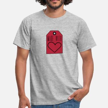 Tag price tag heart offspring cooked baked baby letter - Men's T-Shirt