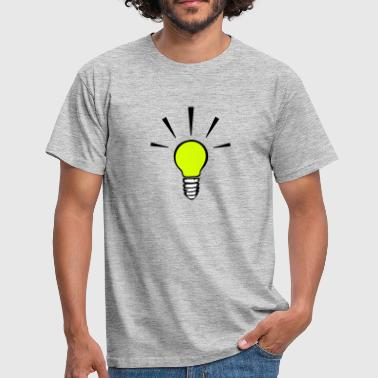 Light bulb - idea  (3 colors) - Men's T-Shirt