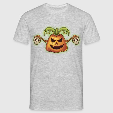 Halloween Evil Scary Pumpkin - Men's T-Shirt