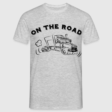 ON THE ROAD Truck  - T-shirt Homme