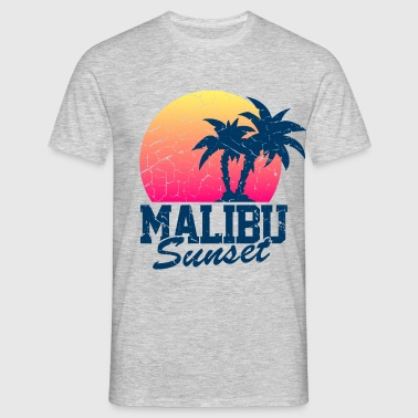 Sunset Malibu vintage worn - Men's T-Shirt