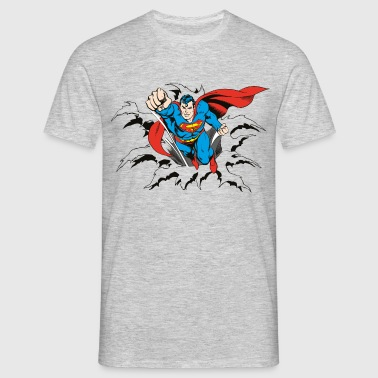 DC Comics Originals Superman Casse Mur Rétro - T-shirt Homme