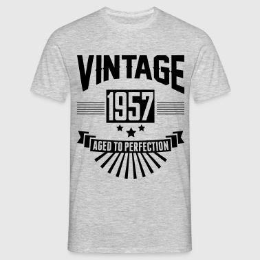 VINTAGE 1957 - Aged To Perfection  - Men's T-Shirt