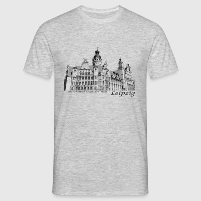 Leipzig City Hall with signature - Men's T-Shirt