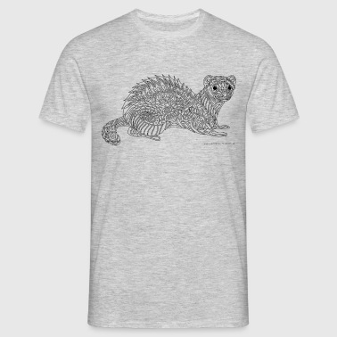 Ferret - black lines - Men's T-Shirt
