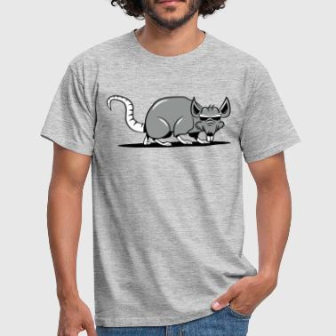 Rat evil sneak sunglasses - Men's T-Shirt