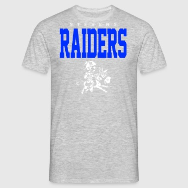 Stevens Raiders with horse - Men's T-Shirt
